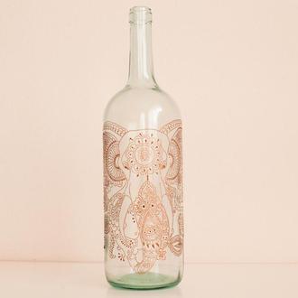 Бутылка декорированная Слон