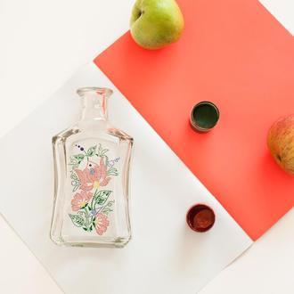 Бутылка декорированная Весна