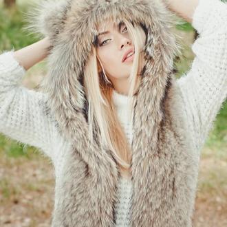 Меховая шапка из волка Волкошапка