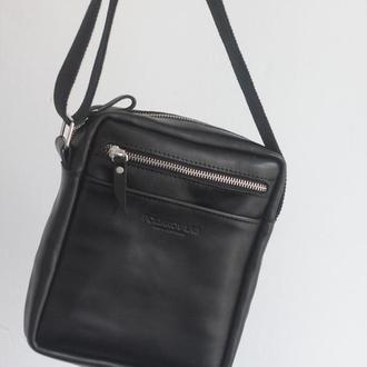 Кожаная сумка через плече. Street mini