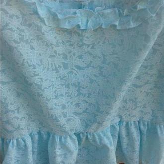 dd2c97f8be3 Блузка с воланами и рюшами батист на размер 52-58 ручной работы ...
