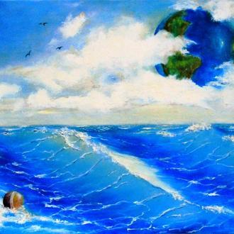 Картина маслом Океан Солярис.Холст га подрамнике.40х50 см