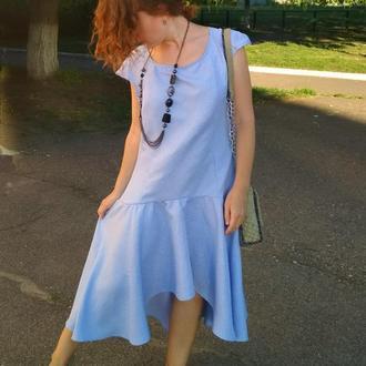 Платье жаккард юбка-солнце