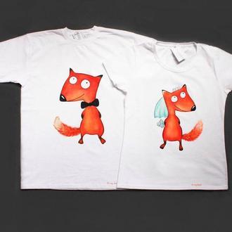 """Парные футболки """"Лисички"""""""