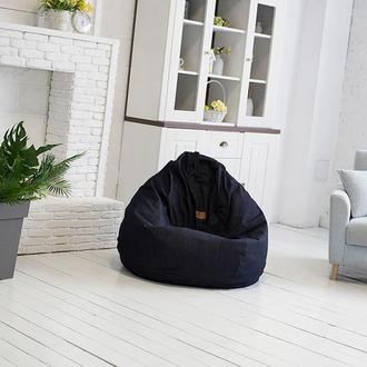 Бескаркасная мебель. Джинсовый пуфик кресло мешок.