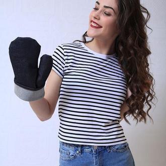 Джинсовая кухонная рукавица