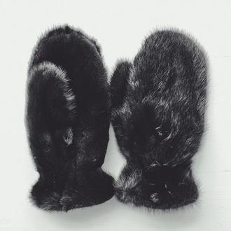 Варежки меховые из норки