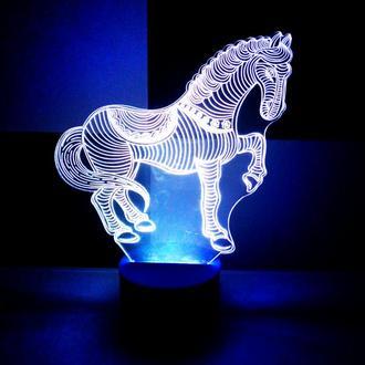 Лошадь, 3d акриловый светильник ночник, необычный подарок сувенир игрушка декор