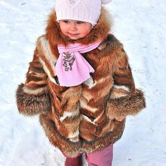Детская шуба из лисы