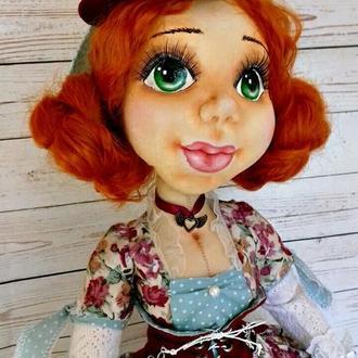 Интерьерная текстильная кукла Рукодельница