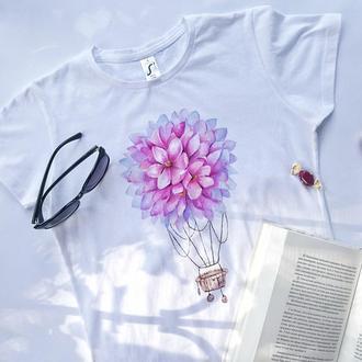 Женская футболка ручная роспись