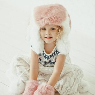 """Меховая шапка детская """"Зайка"""""""