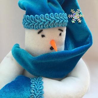 Снеговик Бррр... Игрушка Тильда. 18 см. Handmade