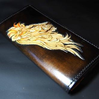 Кожаный кошелек Гордый Лев