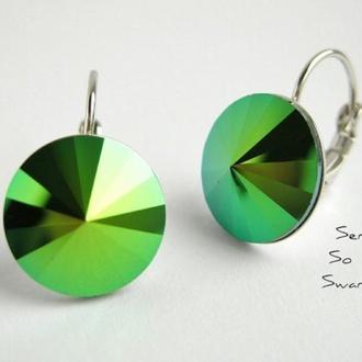 Серьги с кристаллами Сваровски SG