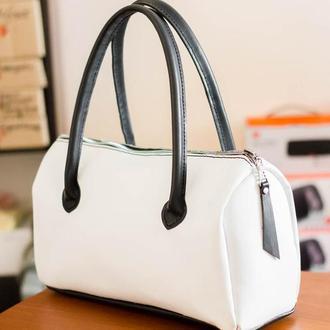 Кожаная сумка 2 в 1 полностью из натуральной кожи ручной работы!
