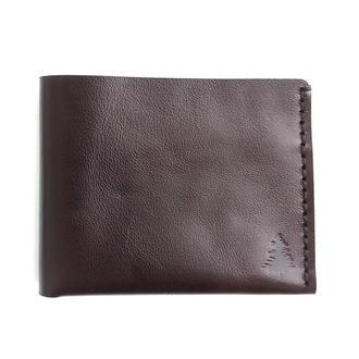 "Кожаный кошелек ""Wealth"" dark brown Just Feel"
