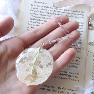 Кулон-ожерелье ручной работы. Эпоксидная смола.