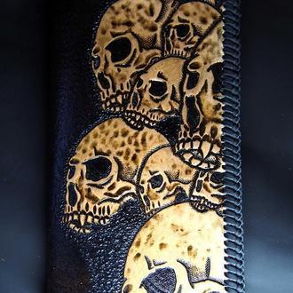 Кожаный кошелек Черепа BLt7a