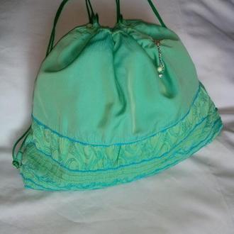Рюкзак из плотного шелка