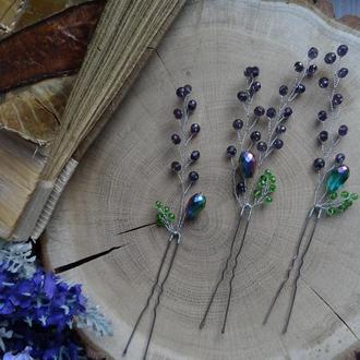 Шпильки веточки лаванды