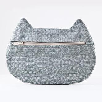 Косметичка кошка, гобеленовая косметичка с орнаментом