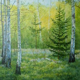 """Картина """"Ранок у весняному лісі"""""""