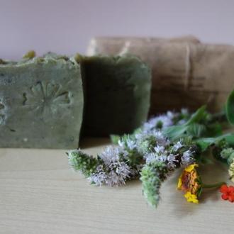 Шампунь-бальзам со спирулиной, черной и голубой глиной