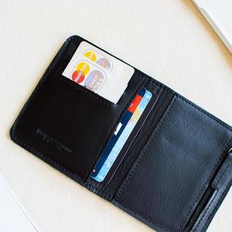 Кожаный бумажник // GATE (Black)