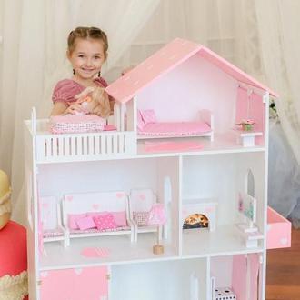 Деревянный кукольный домик для детей, 110*90*30