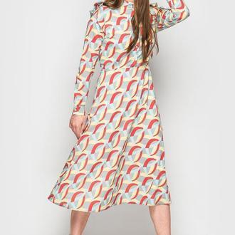 Платье с расклешенным низом 2153