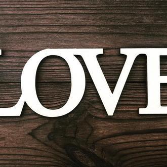 Деревянные слова LOVE