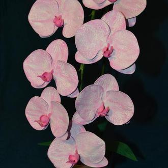 Орхидея из фоамирана, ручная работа