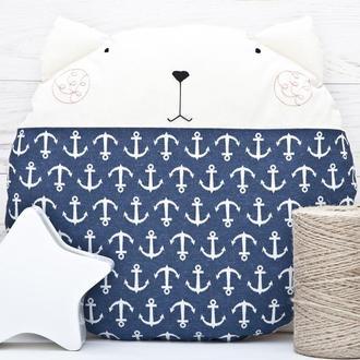 Круглая подушка кот, Декор в детскую