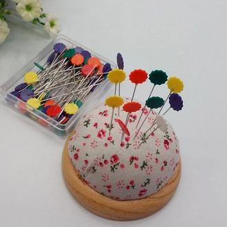 Булавки для квилтинга с головкой в форме цветка 50 мм