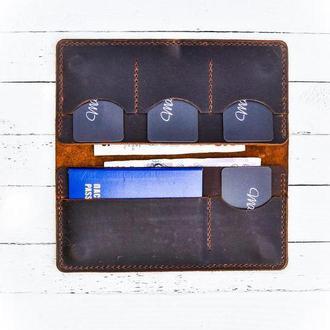 Шкіряний тревел-кейс, женский кошелек, ручная работа, мужской кошелек, кожаный кошелёк, портмоне