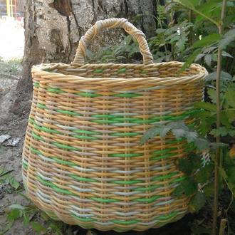 Подвесная корзина плетеная «Вечная весна»