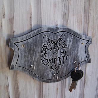 Настенный декор - деревянная ключница