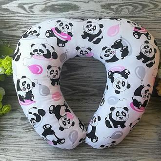 Автомобильная подушка розовые панды