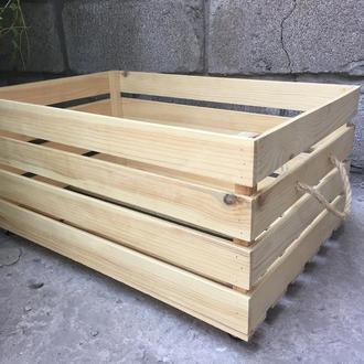 Ящик деревянный на колёсах  с ручками