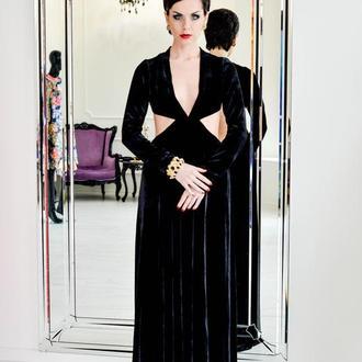 Роскошное вечернее бархатное платье
