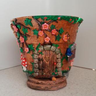 """Цветочный вазон """"Лесной домик"""""""