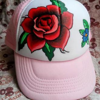"""Женская кепка """"Rose Old School"""""""