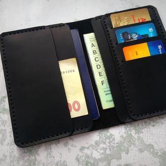 Мужское портмоне из кожи для прав,холдер для паспорта,холдер для документов