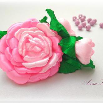 "Прикраса для волосся ""Рожева троянда"""