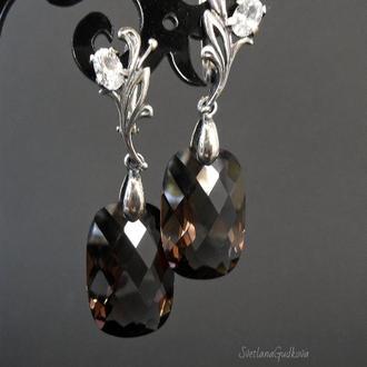 Серебряные серьги Катрина