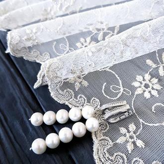Срібні сережки весільні чи святкові з натуральними перлами серьги свадебные с жемчугом праздничные