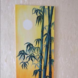 картина маслом Бамбук 30х60см