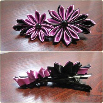 шпилька (чорно-фіолетова)