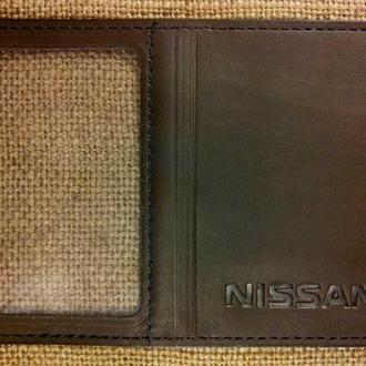 Обложка для прав Микро с логотипом Nissan